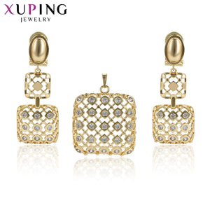Xuping Luxury Fashion Special Design Jewelry Sets High Quality Party for Women Essential Nice Birthday Gifts S194.7-65319