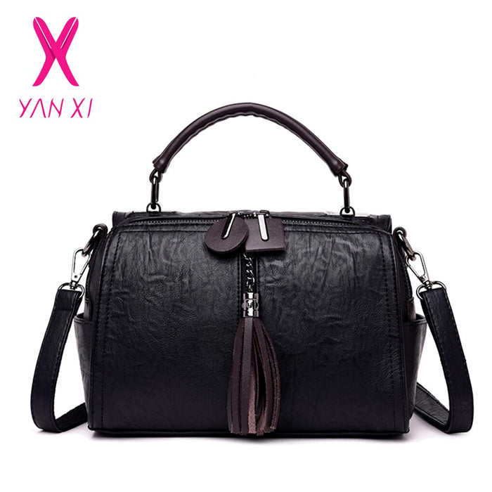 YANXI Doctor Handbag Women Tote PU Leather Bags Handbags Women Famous Brands Female Crossbody Bags for Women