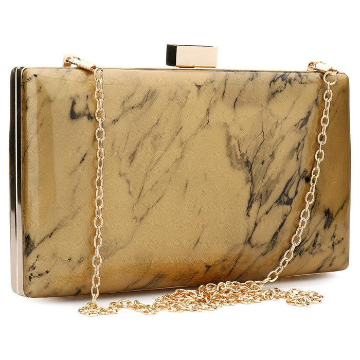 YYW 2019 White Acrylic Box Evening Clutch Bag Chain Shoulder Handbag Crossbody Hard case Bag Wedding Party Prom Purse