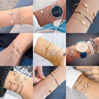 Yobest Bracelets set for Women Boho Tassel Bracelet Mix Lotus Turtle Heart Wave LOVE Crystal Marble Stone Jewelry Wholesale