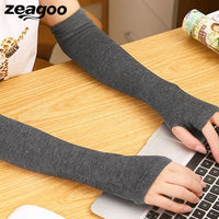 Zeagoo New Arrived Winter Elbow Length Arm Warmer Mittens