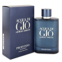 Acqua Di Gio Profondo Cologne By  GIORGIO ARMANI  FOR MEN,4.2 oz-125 ml Eau De Parfum Spray
