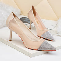 New women fashion pointed high-heeled shoes 2020