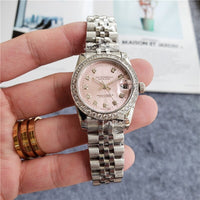 Fashion Pink Small Dial with Diamonds Watches For Women