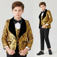 Boys wedding suits shawl lapel boys mens suits 3 piece Boy's Formal Wear