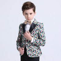 Children Formal Suit Jacket Wedding boys Dress Suit 4 Pieces set
