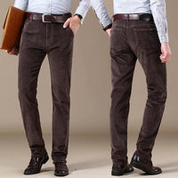 New Autumn Winter Casual Pants Stretch Corduroy  for Men's 2020
