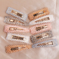 cute fashion colorful rhinestone crystal hair clips pins grips barrette
