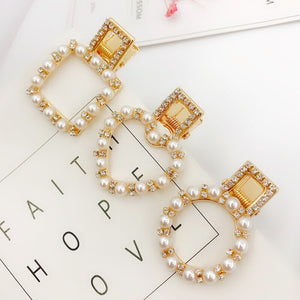 cute rhinestone pearl crystal hairpin hairgrip hairclips hair clip grip pin