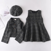 Menoea Kids Clothes Girls Set 2020 Autumn Fashion Winter Wool Coats And Skirts