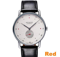 Fashion Casual Brand NOMOS Waterproof Leather Business Quartz Watch Men Dress Watches Women