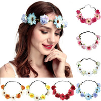 fashion design 2019 Boho Ladies fashionable Floral Flower Festival Wedding Garland Hair Head Band Beach Party #Y40