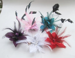 headdress pin head flower NEW brooch fashion breastpin feather Wedding hairpins hair accessories BD011