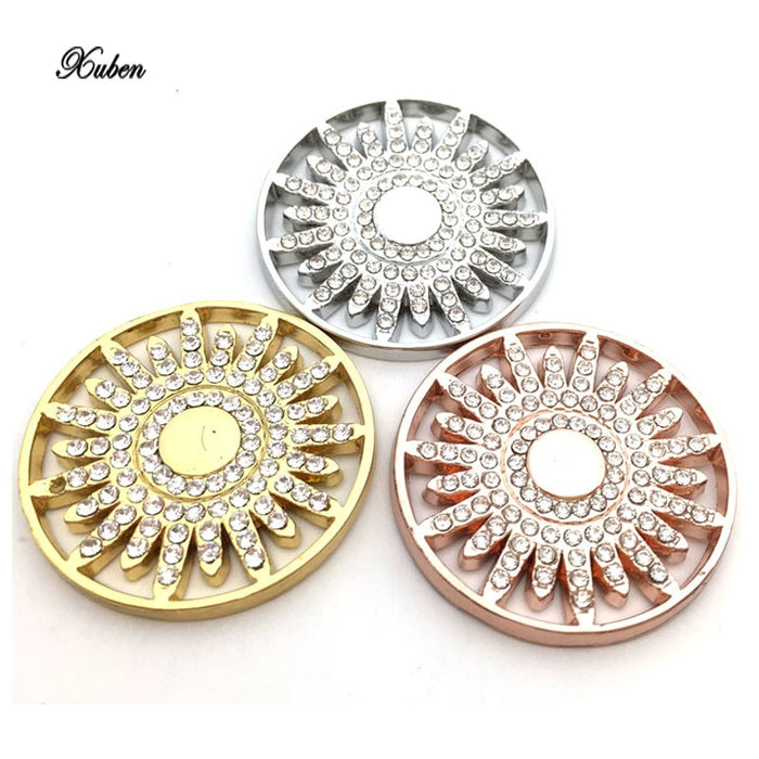 hot sale 33 mm coins in rose gold Open Structure Large  fit  35mm coin holder necklace pendants Frame Pendant