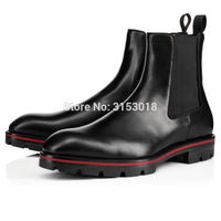Elastic Band Male waterproof platform ankle boot 2020