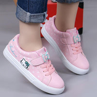 Sneakers Leather Waterproof Air Mesh Shoes White Children Sport Running FOR GIRLS