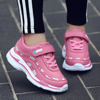 Kids Sport Shoes Waterproof Running Shoes Girls Sneakers Tenis Infantil Pink