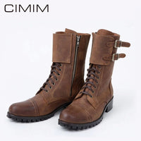 New High Quality Leather Boots For Men 2020