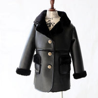 PU Leather jackets Girls Boys Faux Leather jackets Outwear Kids Patchwork Coat