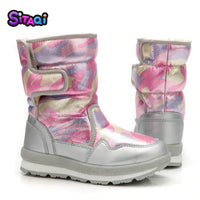 Girls winter Pink Boots 2020 new style Kids snow boot boy warm fur antiskid