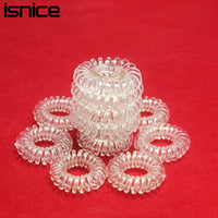 isnice 12pcs Transparent Popular hairwear candy-colored telephone