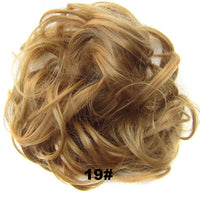 jeedou Elastic Chignon Hairpiece Messy Curly Bun Mix Gray Natural Chignon Synthetic Hair Extension Chic and Trendy