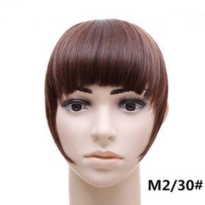 jeedou Short Front Neat bangs Clip in bang fringe Hair extensions straight Synthetic 100% Real Natural hairpiece