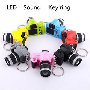 key chains for keys car LED Lovely Mini Camera Key Chain Rings Chain Cartoon Women Car Bag Key Ring J.19