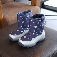Winter Platform Boys Boots Children Rubber anti-slip Snow Boots Shoes for girl