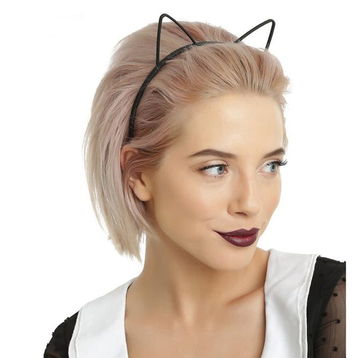 kids black cat ears head bands fashion Lady Girl Hairband Sexy Self Headband