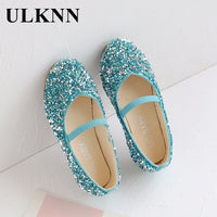 NewNon-Slip Soft Bottom Wear-Resistant Little Baby Sequined Children's Shoes