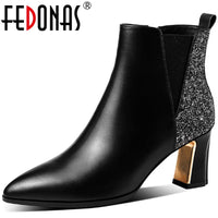 2020 Winter Fashion Genuine Leather Ankle Boots
