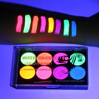 8 Colors Face Body Art Paint UV Glow Fluorescent Glowing Halloween Party Fancy