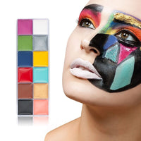 12 Colors Makeup Body Paint Cream Template Body Face Halloween Party