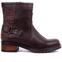 Artificial leather ANKLE 2020 Moxee-Brown Women Boots