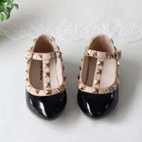 princess shoes female child sandals cutout child single shoes breathable rivet t shoes