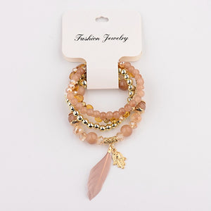 Amader 2019 Spring Summer Fashion Women's Bracelet Set 3Pcs/Lot High Quality