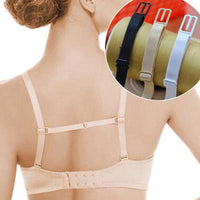 1Pc Women Bra Back Double Shoulder Straps Adjustable Elastic Slip-Resistant Belt Buckle Non-Slip Clips Solid Color