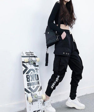 2019 Autumn Cargo Pants Women Letter Printed Loose Harajuku Pants for Women Hot