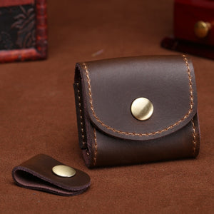 Mini Fashion Coin Purse Vintage Men Women Genuine Leather Wallet