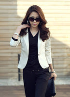 New Spring Autumn Women 'S Sexy One Button Small Suit Jackets Women Coat Blazer Black ,Coffee ,Pink ,Beige ,Navy Blue Wc148