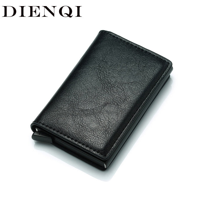 Black Metal Anti Rfid Wallet Credit id Card Holder Men Women Business Cardholder Cash Card Pocket Case Passes creditcard holder