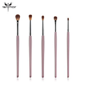 Anmor Makeup Brushes Make Up Foundation Brush Blending Wooden Professional Soft Synthetic Hair Eyeshadow Eyebrow Cosmetic Kit