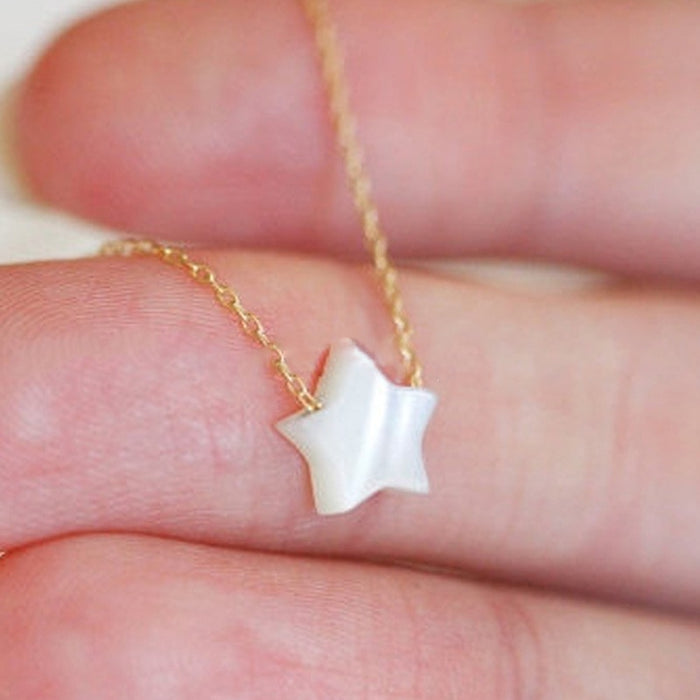 Jewelry Natural White Star Shell Necklace Women Pendant On Neck Accessories