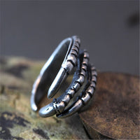 CHENGXUN Retro Burnished Eagle Toe Rings Animal Jewelry 7.5 Size Antique Trendy Unique Rings Halloween Item for Men Teens