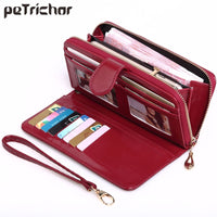 Hot Selling Many Departments Women Wallet High Quality Wristlet Clutch Wallet Female Card Holder Leather Ladies Long Purses
