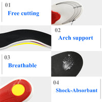 Comfortable Orthotics Orthopedic Flat Foot Insoles Arch Support