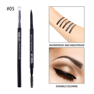 BEAUTYBIGBANG  Eyebrow Tint Makeup Natural Long Lasting Paint Tattoo Super Slim Eyebrow Dual Ended Waterproof Pencil Eye Brow