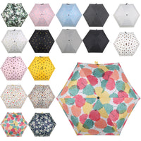 1PC Small Fashion Folding Umbrella Rain Women Gift Men Mini Pocket Parasol Girls