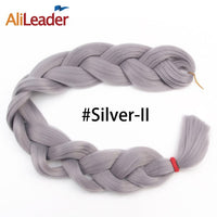 AliLeader 1PC Long Jumbo Braid Hair 82Inch 165G Crotchet Braids Synthetic Expression Braiding Hair Extension Blond Pink Purple